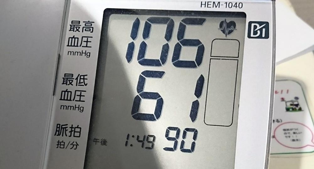 血圧を測ってみたら思ったよりも低かった件